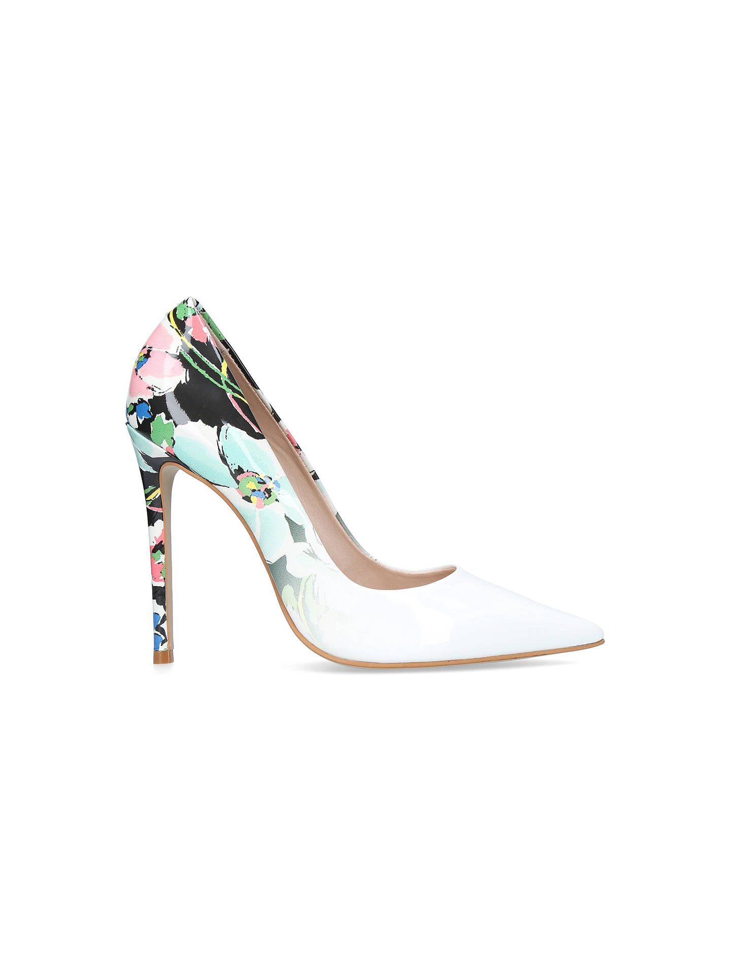 5c6328556101 ... Buy Carvela Alice Stiletto Heeled Court Shoes, White, 3 Online at  johnlewis.com