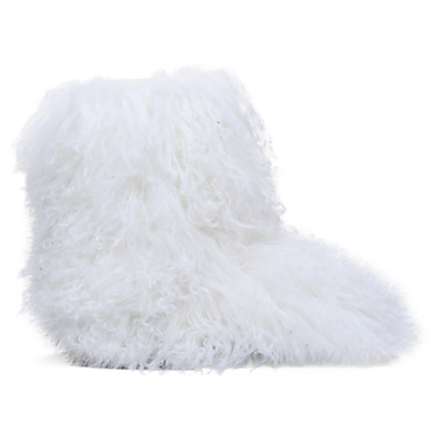 UGG Fluff Sheepskin Boot Slippers, White