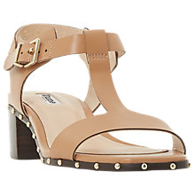 Buy Dune Isadora Block Heel Sandals, Camel Leather Online at johnlewis.com