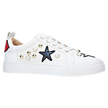 Buy KG by Kurt Geiger Lippy Lace Up Trainers, White Online at johnlewis.com
