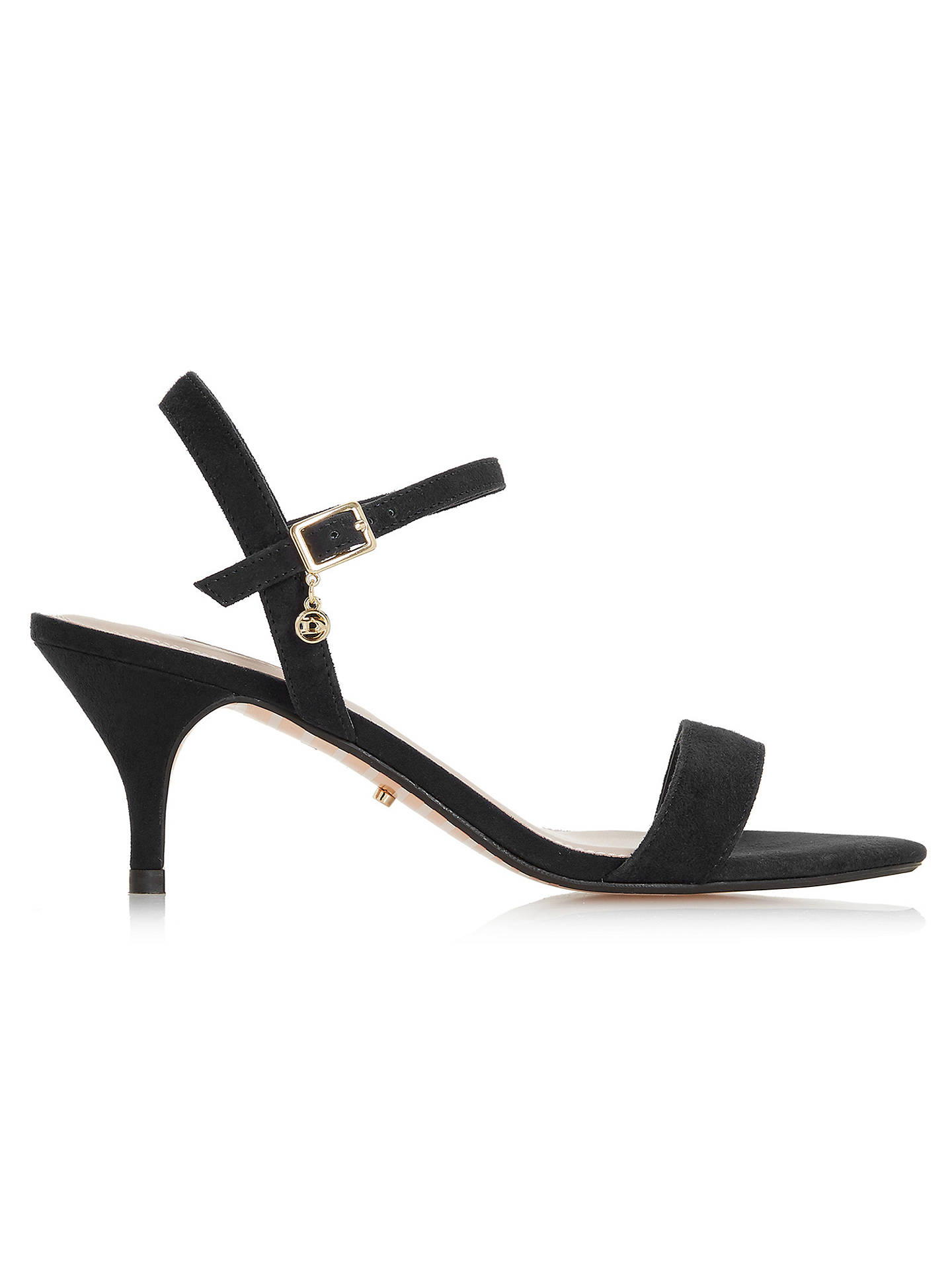 38b82b8df Gucci 9.5 Black Monogram Canvas & Suede Kitten Heel Sandals. BuyDune  Monnroe Two Part Kitten Heel Sandals, Black Suede, 3 Online at johnlewis.
