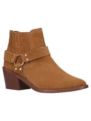 Buy Carvela Sheriff Block Heel Ankle Boots, Tan Suede, 3 Online at johnlewis.com