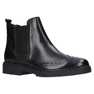 Carvela Still Ankle Chelsea Boots, Black Leather