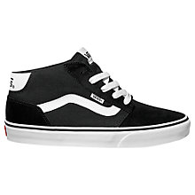 Buy Vans Chapman Mid Trainers, Black Online at johnlewis.com