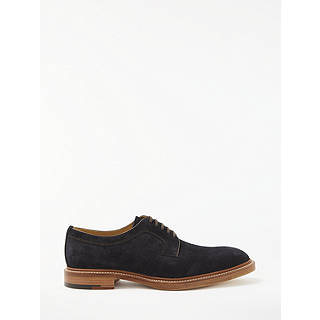 John Lewis Made in England Willington Suede Derby Shoes Navy