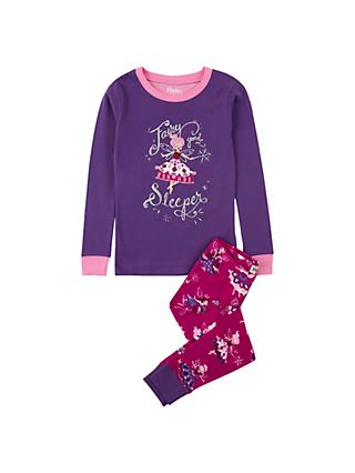 Hatley Girls' Fairy Sleeper Cotton Pyjamas, Violet
