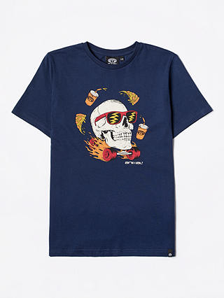 Buy Animal Boys' Turbo Graphic Print T-Shirt, Navy, 7-8 years Online at johnlewis.com