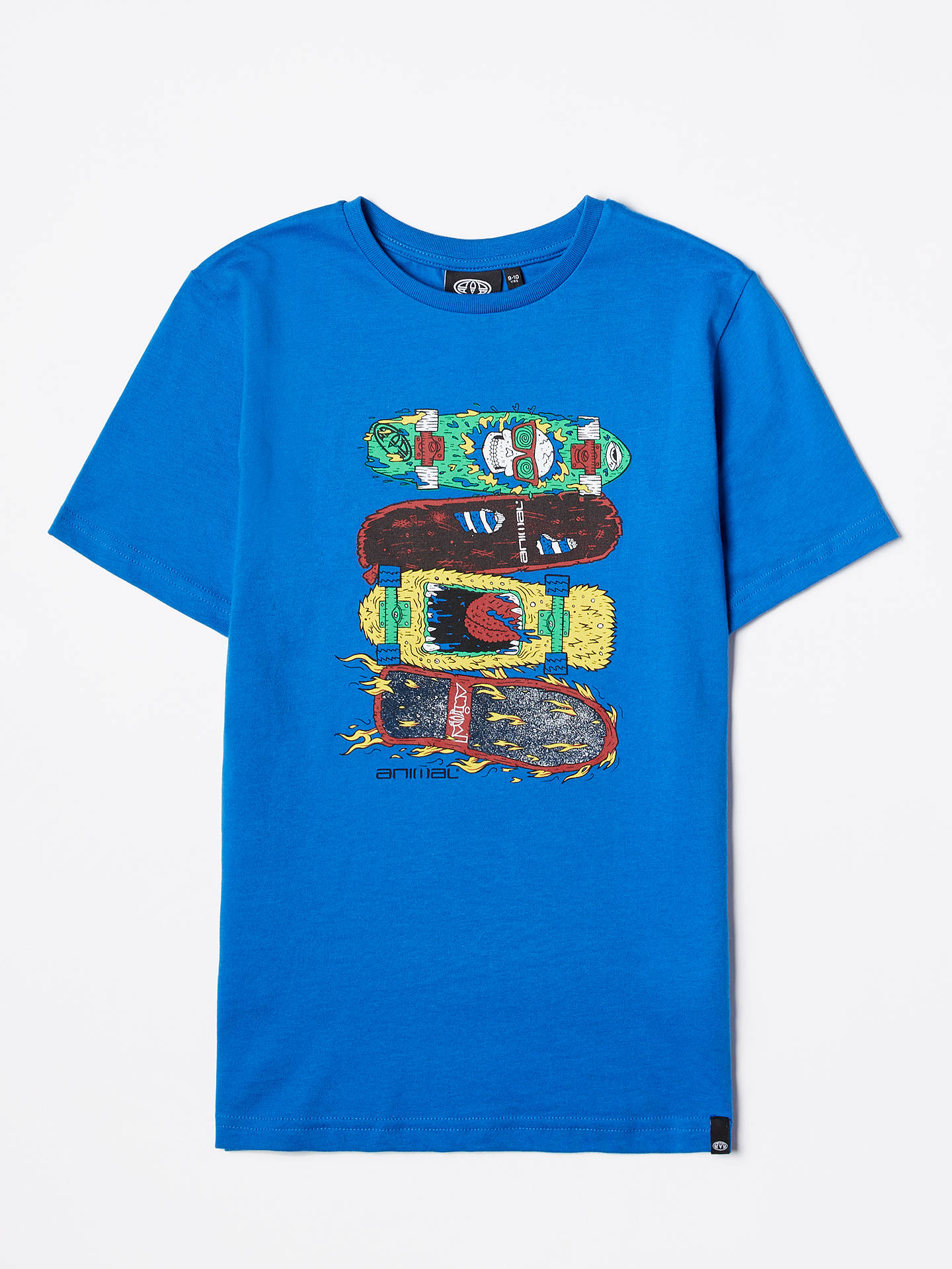 Buy Animal Boys' Tilo Graphic Print T-Shirt, Blue, 7-8 years Online at johnlewis.com