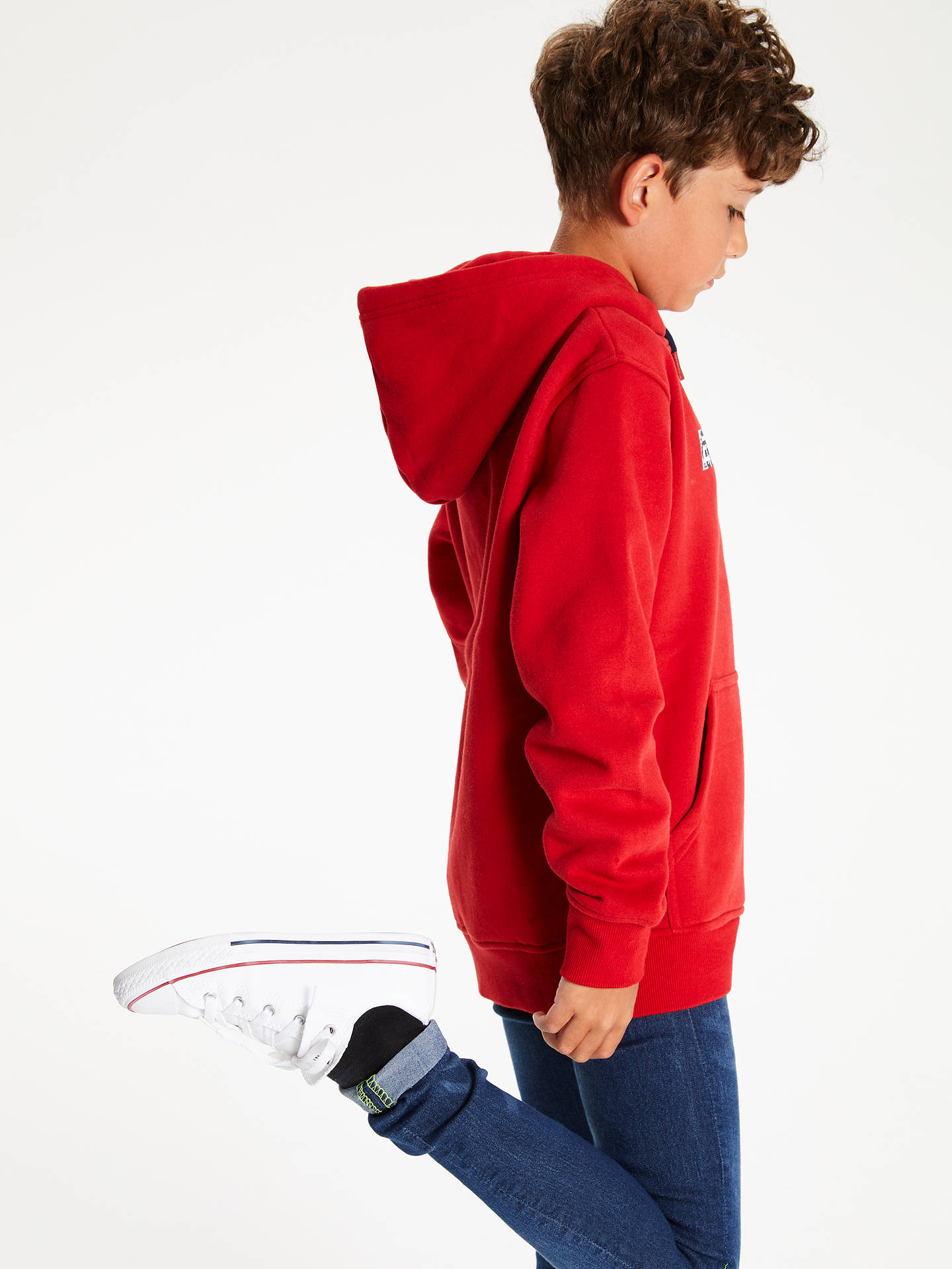 BuyAnimal Boys' Roadie Hoodie, Red, 7-8 years Online at johnlewis.com