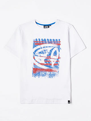 Buy Animal Boys' Short Sleeve Tabo Graphic T-Shirt, White, 13-14 years Online at johnlewis.com