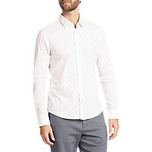Buy BOSS Reid Printed Long Sleeve Slim Fit Shirt, Blue Online at johnlewis.com