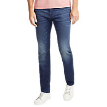 Buy BOSS Maine Regular Fit Jeans, Bright Blue Online at johnlewis.com