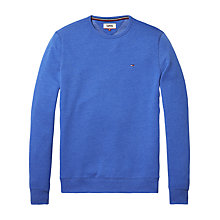 Buy Tommy Jeans Crew Neck Sweatshirt, Nautical Blue Online at johnlewis.com