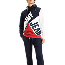 Buy Tommy Jeans Colour Block Funnel Neck Hoodie, Multi Online at johnlewis.com