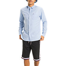 Buy Tommy Jeans Acid Dobby Regular Fit Shirt, Bright Blue Online at johnlewis.com