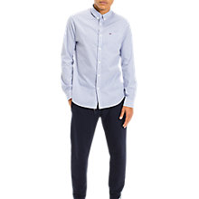 Buy Tommy Jeans Classic Stripe Shirt, Blue/White Online at johnlewis.com