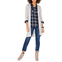 Buy Oasis Edge to Edge Cardigan, Mid Grey Online at johnlewis.com
