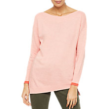 Buy Mint Velvet Marl Cuff Jumper, Apricot Online at johnlewis.com