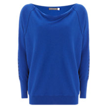 Buy Mint Velvet Cut Out Sleeve Batwing Jumper, Azure Blue Online at johnlewis.com