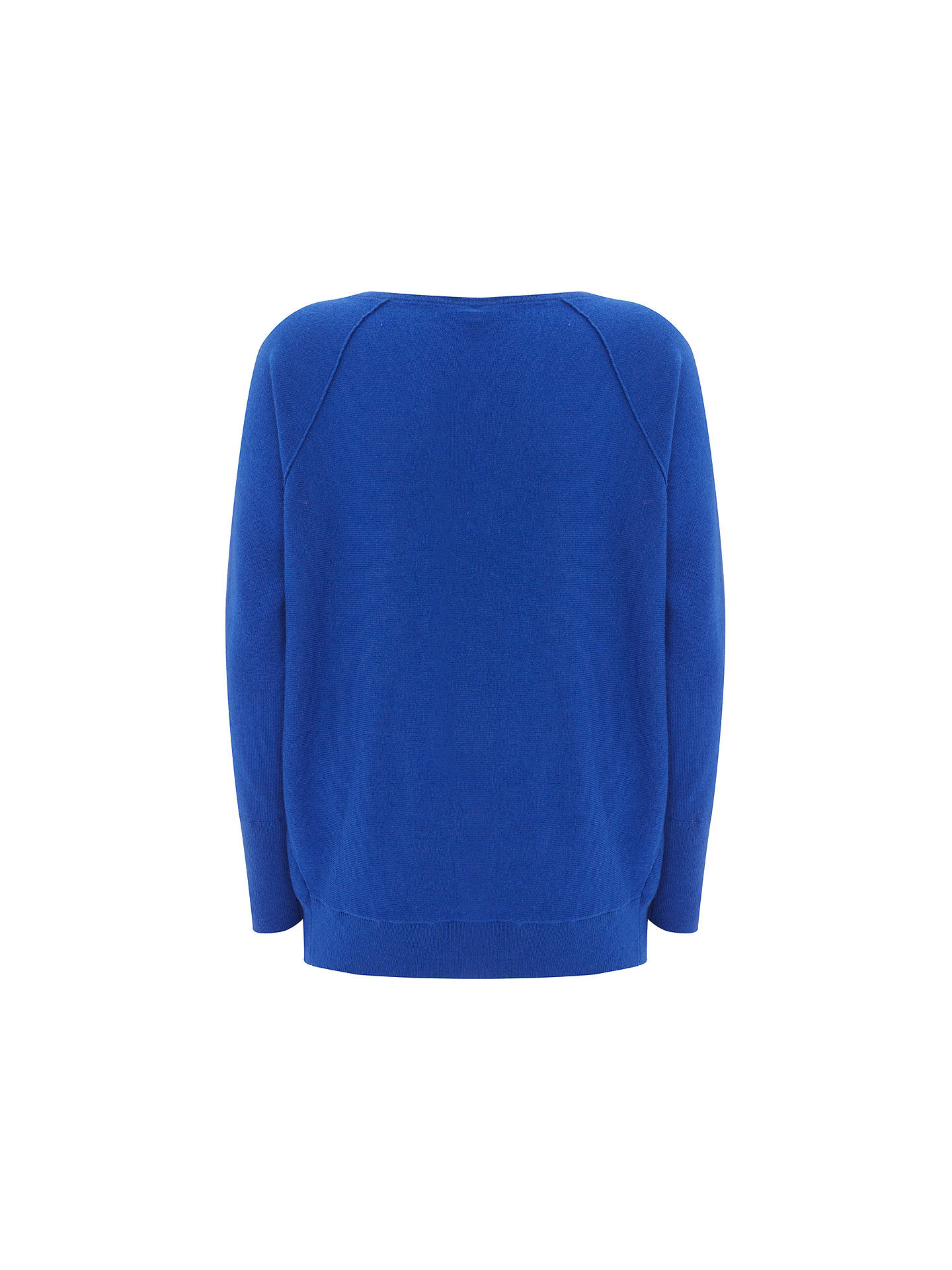BuyMint Velvet Cut Out Sleeve Batwing Jumper, Azure Blue, XS Online at johnlewis.com