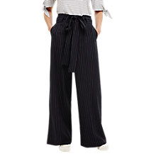 Buy Phase Eight Lydia Stripe Wide Leg Trousers, Navy/Ivory Online at johnlewis.com