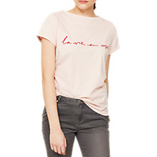 Buy Mint Velvet La Vie En Rose T-Shirt, Light Pink Online at johnlewis.com