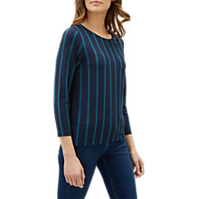 Buy Jaeger Double Stripe Ponte Top, Blue Online at johnlewis.com
