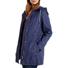 Buy White Stuff Hayeswater Wax Parka, Petrol Blue Online at johnlewis.com