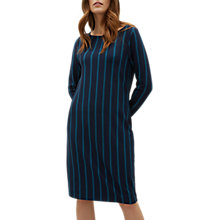 Buy Jaeger Double Stripe Ponte Dress, Blue Online at johnlewis.com