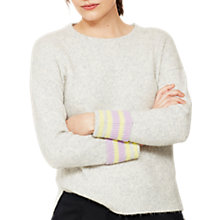 Buy Mint Velvet Colour Pop Stripe Jumper, Grey Online at johnlewis.com