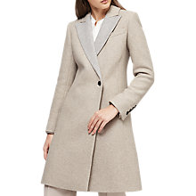 Buy Reiss Casey Wrap Front Coat, Grey Online at johnlewis.com