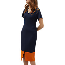 Buy Jaeger Colour Block Dress, Navy/Stripe Online at johnlewis.com