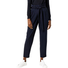 Buy Warehouse Paper Bag Peg Trousers, Navy Online at johnlewis.com