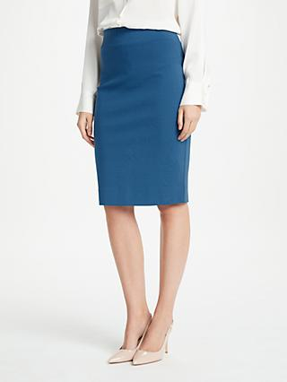 Winser London Miracle Pencil Skirt, Petrol