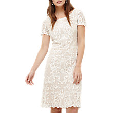 Buy Phase Eight Tatiana Embroidered Dress, Ivory Online at johnlewis.com