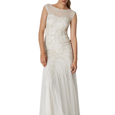 Phase Eight Bridal Sabina Embellished Wedding Dress, Pearl