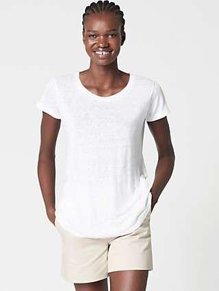 Winser London Pure Linen T-Shirt, White