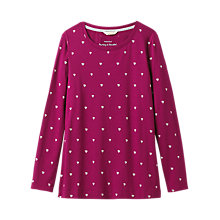 Buy White Stuff Brushed Layered Jersey T-Shirt, Cranberry Online at johnlewis.com