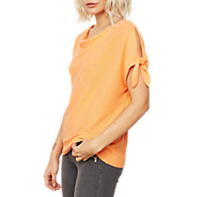 Buy Mint Velvet Blossom Tie Sleeve Batwing Knit Top, Light Orange Online at johnlewis.com