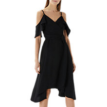 Buy Coast Camilla Cold Shoulder Wrap Dress, Black Online at johnlewis.com