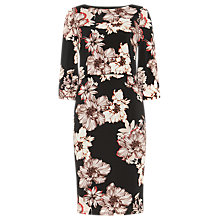 Buy Phase Eight Thea Floral Print Dress, Black/Multi Online at johnlewis.com