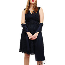 Buy Studio 8 Flora Embroidered Dress, Navy Online at johnlewis.com