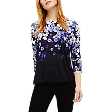 Buy Phase Eight Frankie Floral Print Top, Blue Online at johnlewis.com