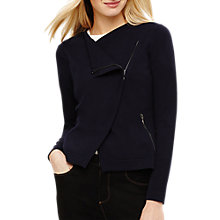 Buy Phase Eight Brielle Biker Cardigan, Midnight Online at johnlewis.com