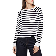 Buy Reiss Jude Striped Top, Navy/White Online at johnlewis.com
