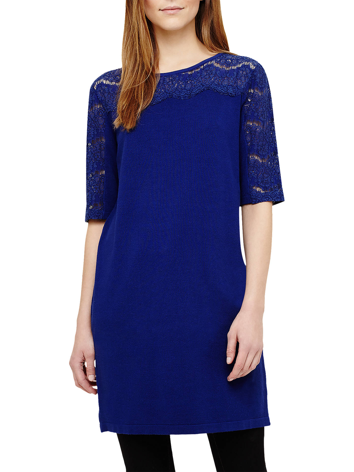 Buy Phase Eight Laken Lace Knitted Tunic, Sapphire, 8 Online at johnlewis.com