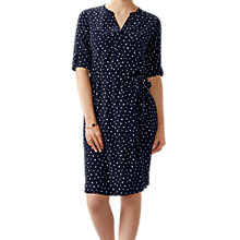 Buy Pure Collection Silk Tie Waist Dress, Black Spot Online at johnlewis.com