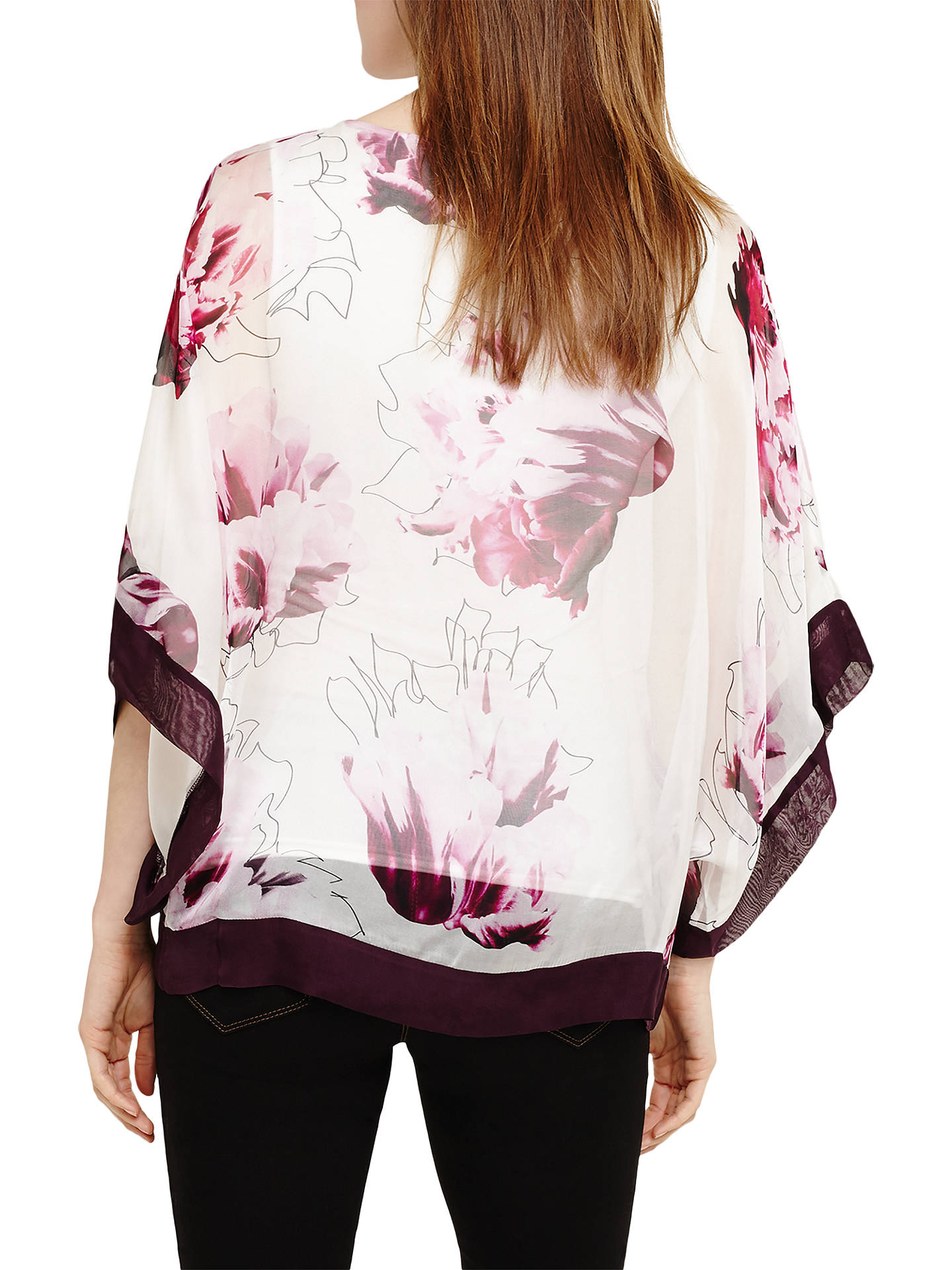 3db72929392b7b ... Buy Phase Eight Peony Floral Silk Blouse, Magenta, XS Online at  johnlewis.com ...