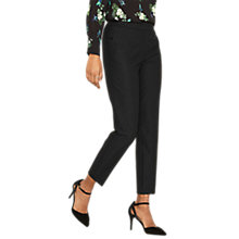 Buy Oasis Camilla Split Detail Trousers, Black Online at johnlewis.com