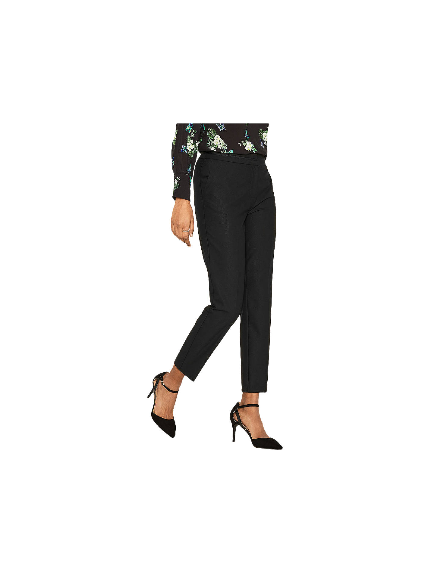 405a812b7ff2 Buy Oasis Camilla Split Detail Trousers, Black, 6 Online at johnlewis.com  ...
